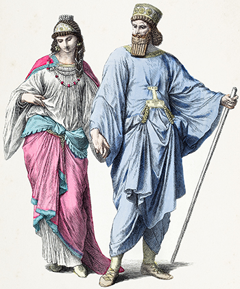 Achaemenid rulers in fancy clothes