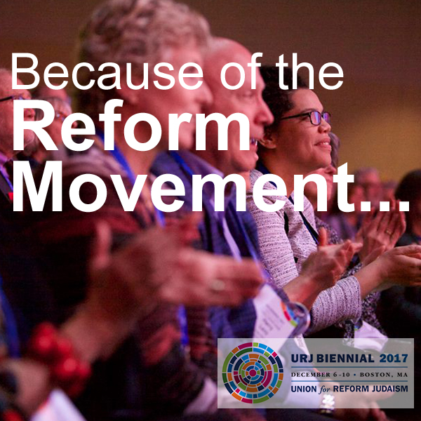 Because of the Reform Movement