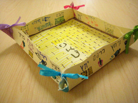 Matzah holder family activity for the Jewish holiday of Passover or Pesach