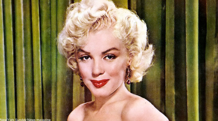 Crop of Marilyn Monroe on the cover of New York Sunday News magazine