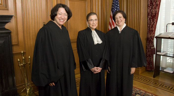 Justice Ruth Bader Ginsburg with other women justices