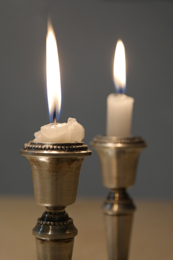 two candles for Shabbat