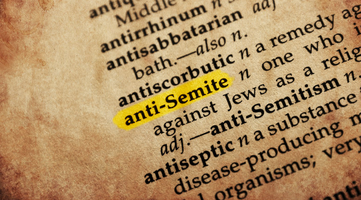 Dictionary page with highlighted entry for anti-Semite