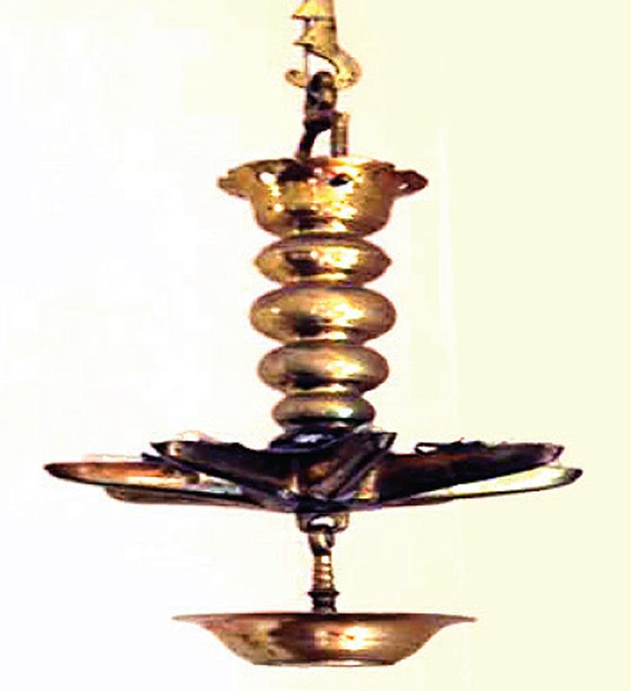 German Brass Hanging Lamp