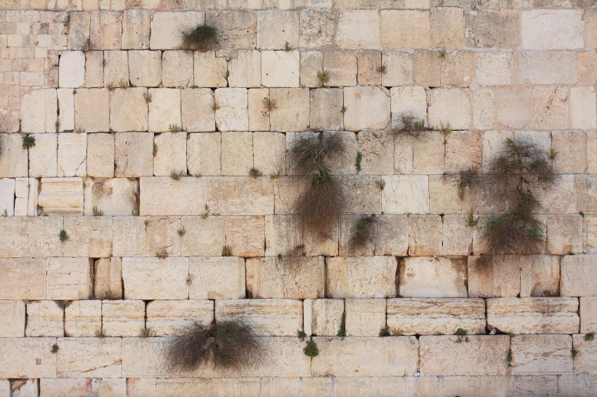 the Western Wall or Kotel in Jerusalem, Israel