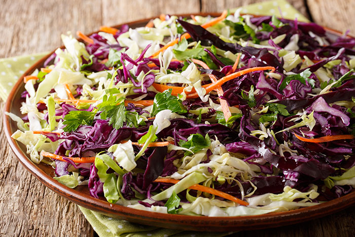 tri-color Asian coleslaw