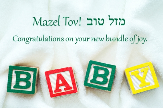 Mazel tov on your new baby