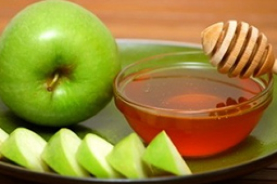 Apples and Honey, foods that are integral to the customs and rituals of the Jewish holiday of Rosh HaShanah