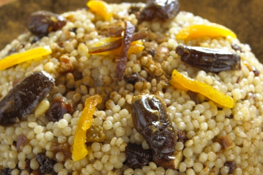Moroccan sweet couscous recipe for the Jewish holiday of Hanukkah