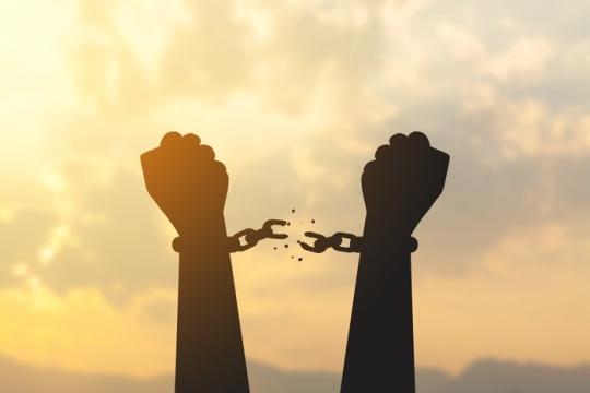 handcuffs tearing apart