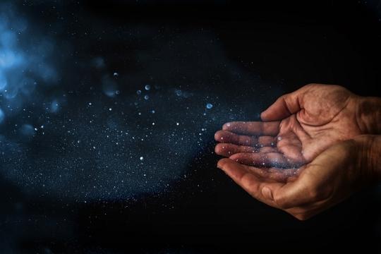 hands open to receiving