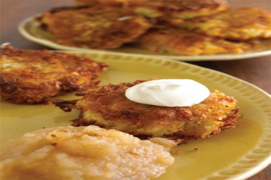 Latke recipe for the Jewish holiday of Hanukkah Chanukkah