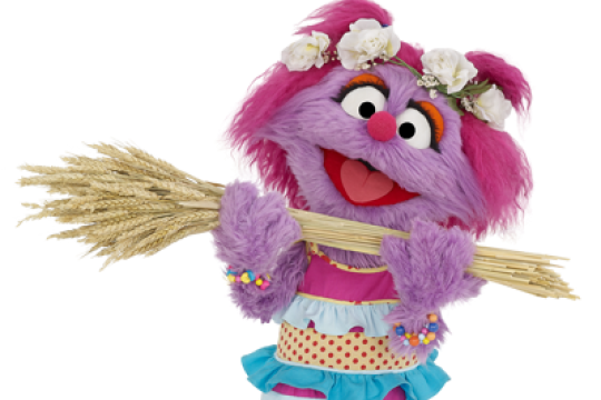 Celebrate Shavuot with Abigail and other characters from Sesame Street.