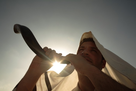 Blowing SHofar on the High Holidays