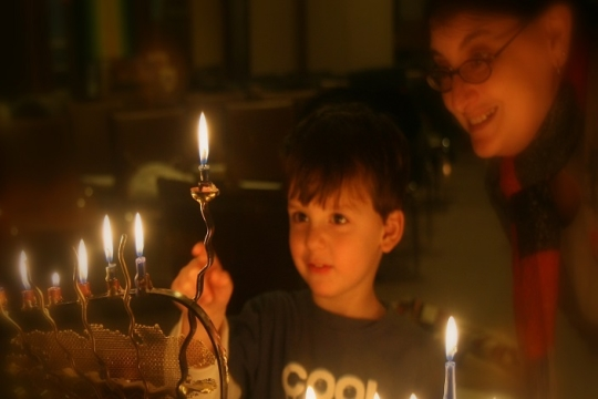Hanukkah Candle light by Steven M. Isenberg, Temple Emanuel, Lowell, MA