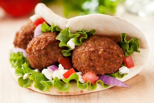an Israeli Falafel often eaten by Americans during Yom HaZikaron and Yom HaAtzmaut