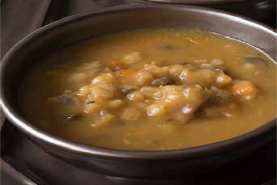 Vegetarian Mushroom Barley Soup for the Jewish Holiday of Tu BiSh'vat