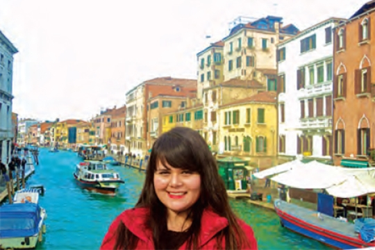 SDSU student Sinai Cota studying abroad in Venice.