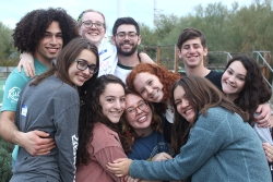 NFTY Teens hugging