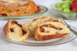 Ceske' Buchty or Czech Apple-Filled Yeast Cake that you and your family can try on the Jewish holiday of Shabbat. Food