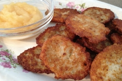 A latke for the Jewish holiday of Hanukkah Chanukkah Channukkah Channukah Hannukkah Hanukah Hannukah