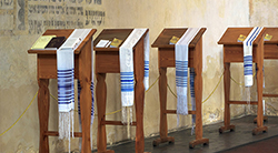 Prayer shawls, tallitot, used in Reform Jewish worship