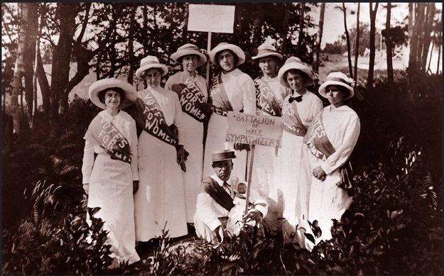 Suffragists, with Gertrude Weil, left